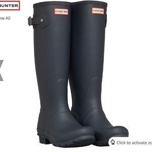HUNTER Tall Original Boots in Dark Slate - Size 7
